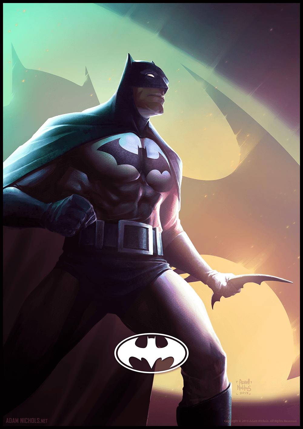 Batman Illustration - Fan Artwork by Adam Nichols