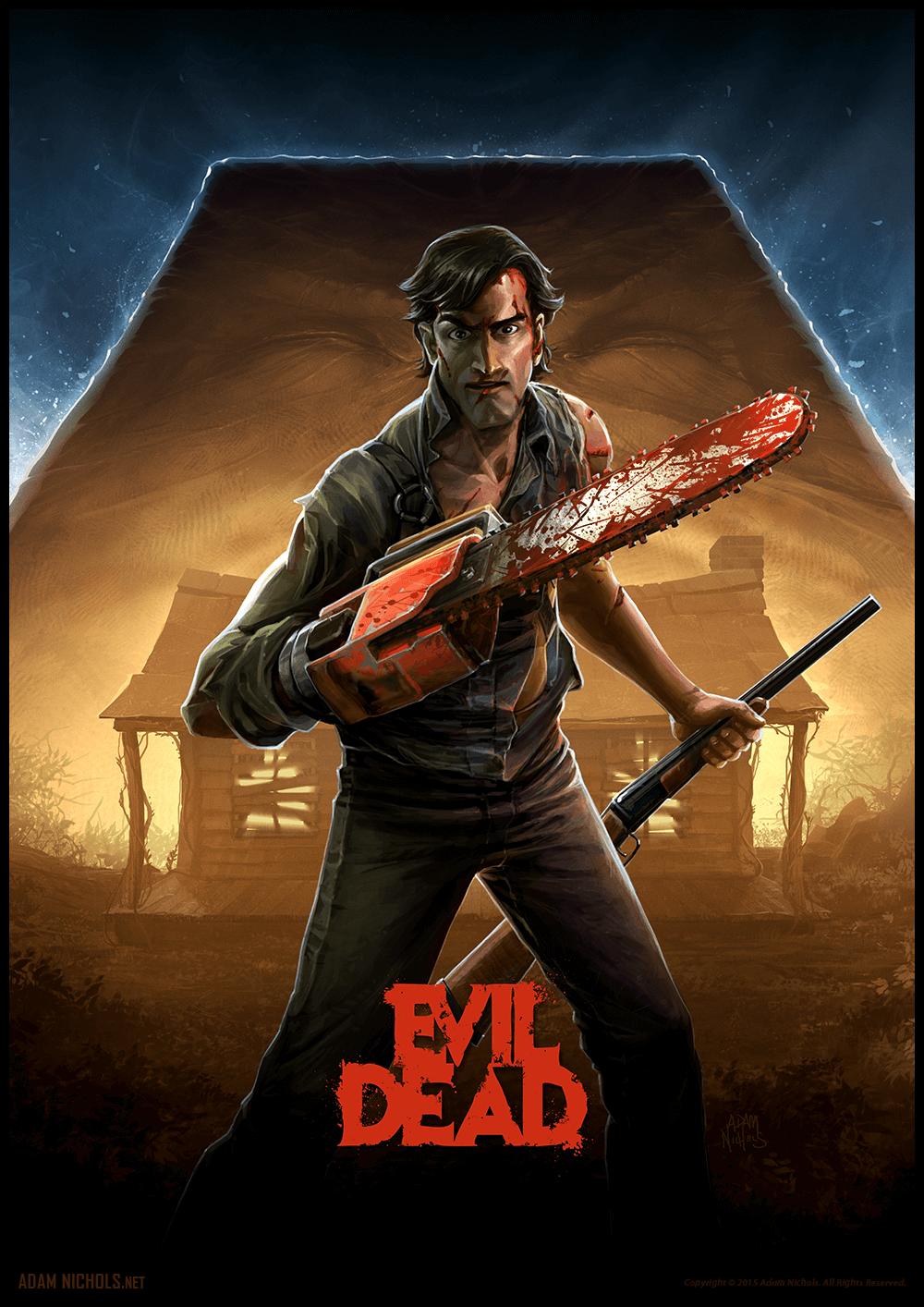 Evil Dead vs Ash - Fan Artwork by Adam Nichols