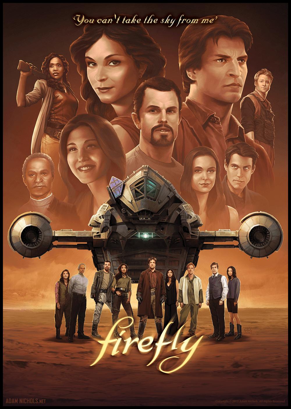 Firefly Illustration - Fan Artwork by Adam Nichols