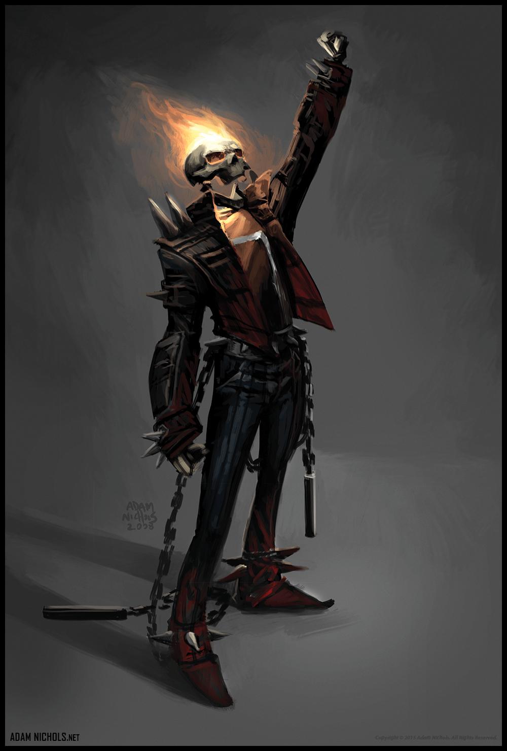 Ghost Rider Spawn Design - Concept Artwork by Adam Nichols