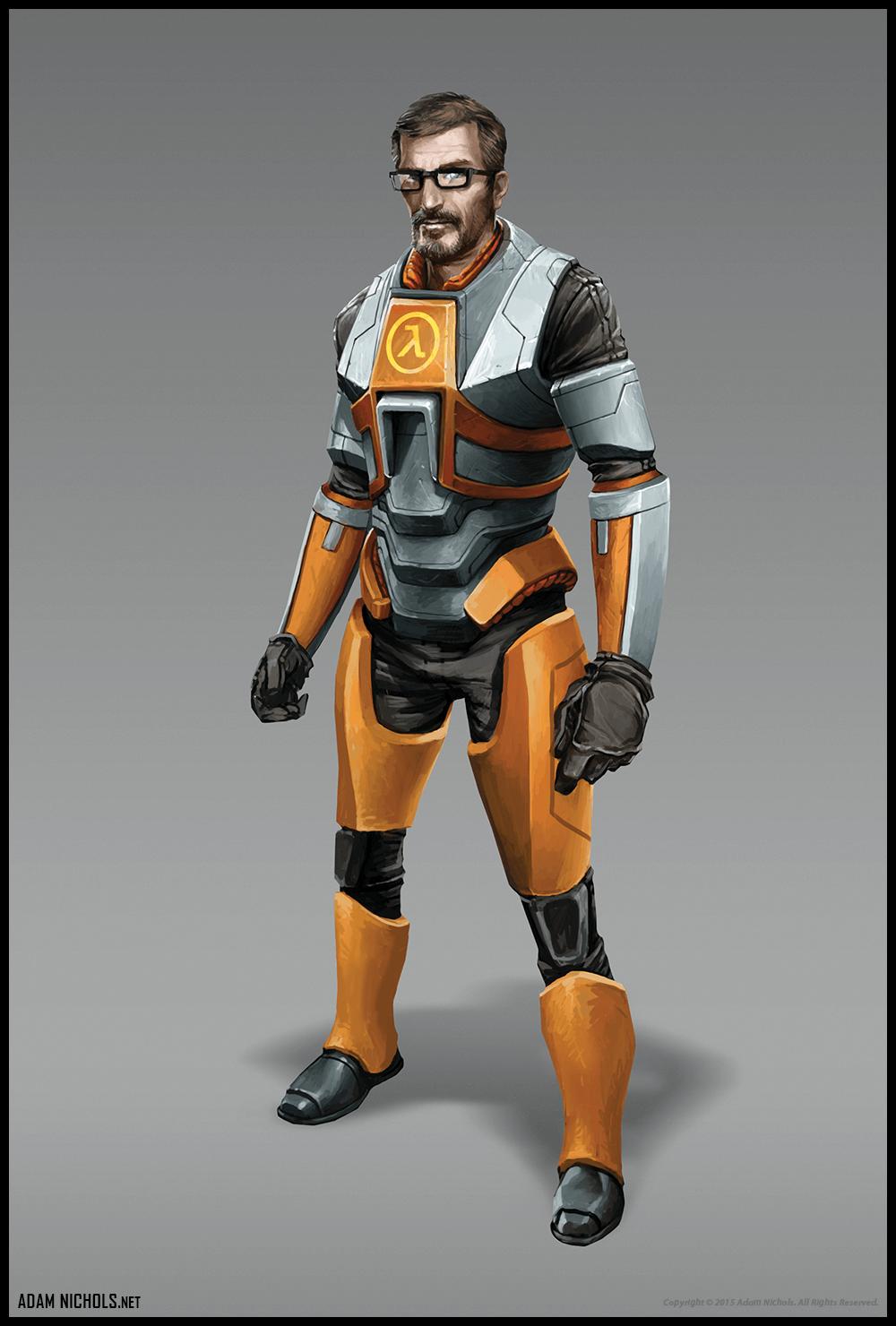 Halflife 3 Gordan Freeman Concept Art - Artwork by Adam Nichols