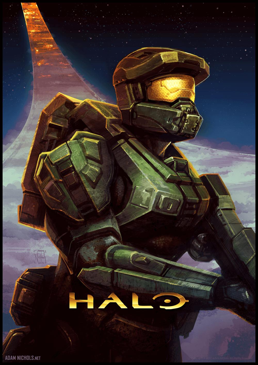 Halo Illustration - Fan Artwork by Adam Nichols