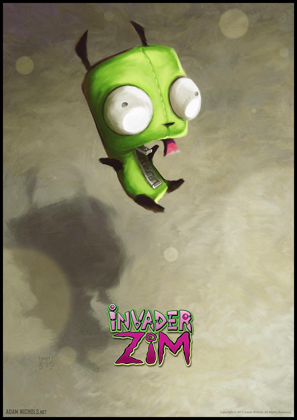 Invader Zim (GIR) Illustration - Fan Artwork by Adam Nichols