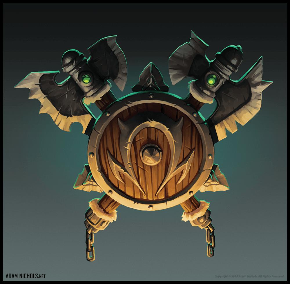 World of Warcraft Horde Logo Illustration - Fan Artwork by Adam Nichols