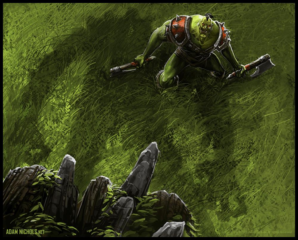 World of Warcraft Orc Illustration - Fan Artwork by Adam Nichols