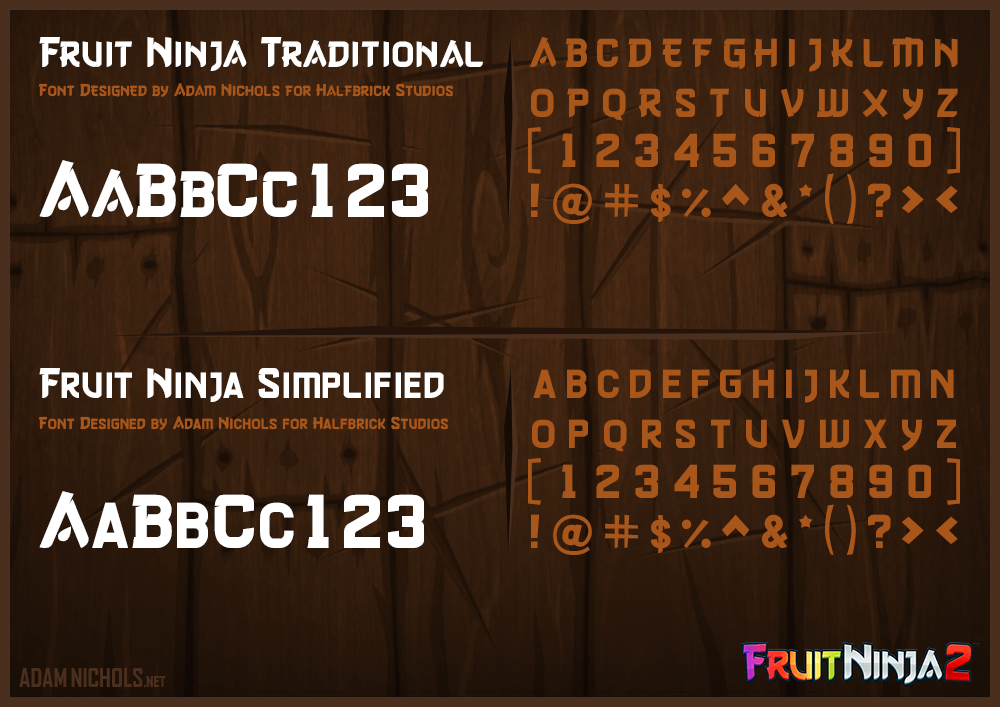Fruit Ninja 2 - Official Fruit Ninja Font Design
