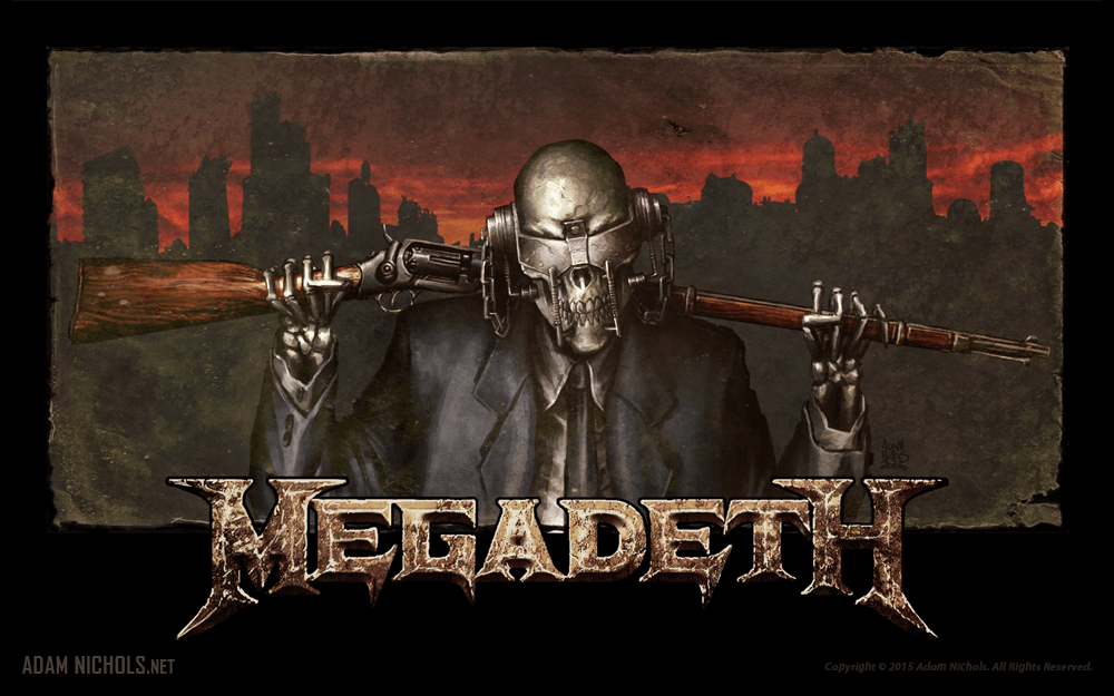 Megadeth Vic Rattlehead Horizontal Artwork