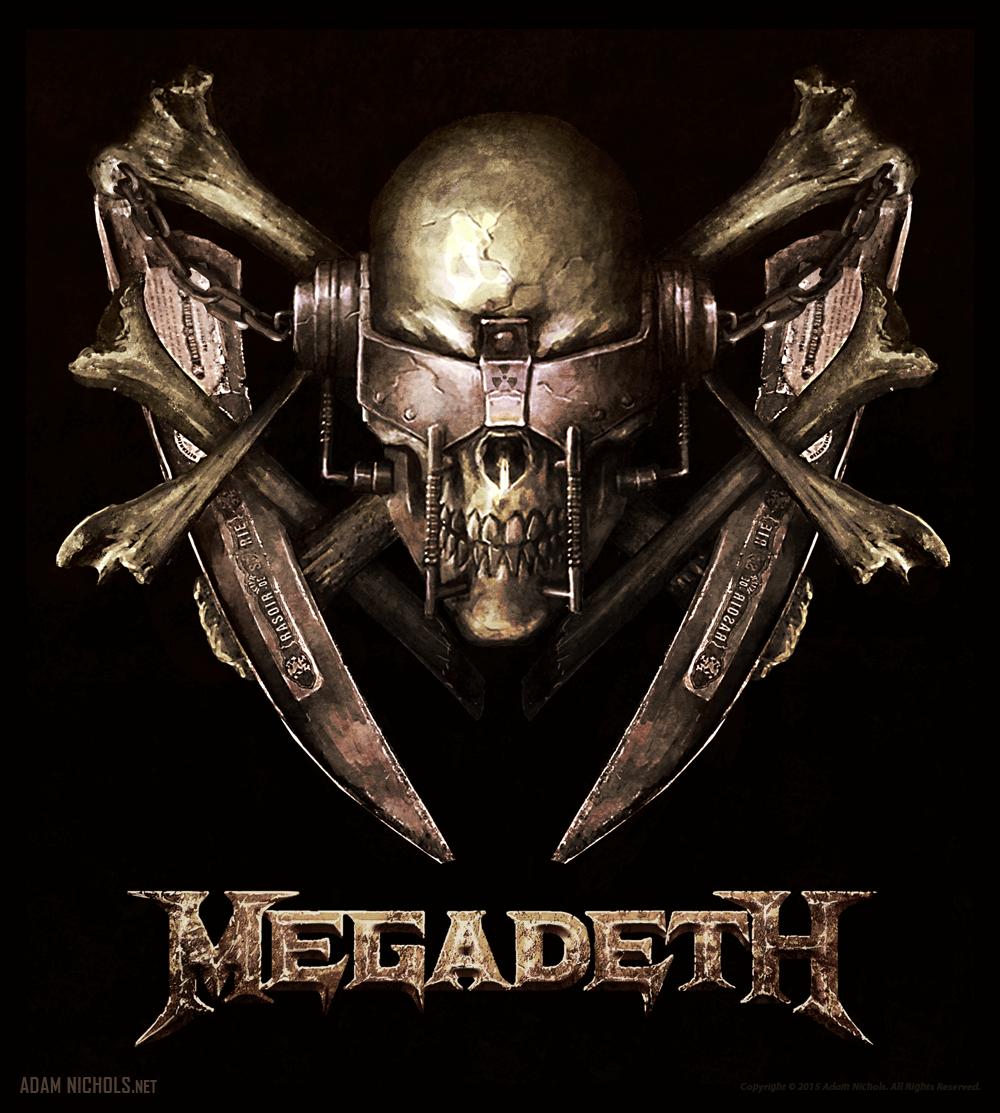 Megadeth Vic Rattlehead Vertical Artwork