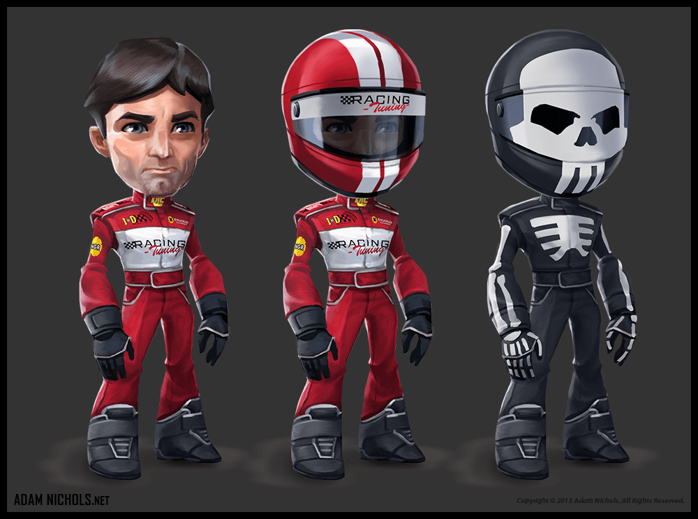 Mini Motor Racing Artwork