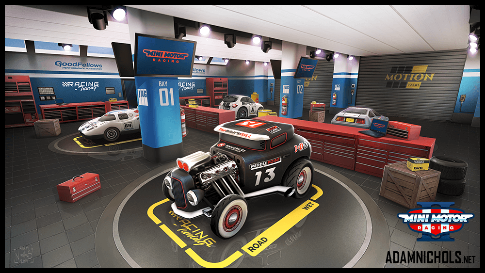 Mini Motor Racing 2 Garage Lobby Concept Design
