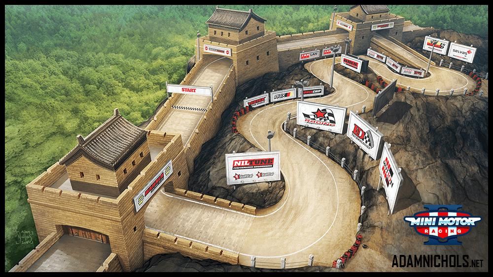 Mini Motor Racing 2 Track Concept Great Wall