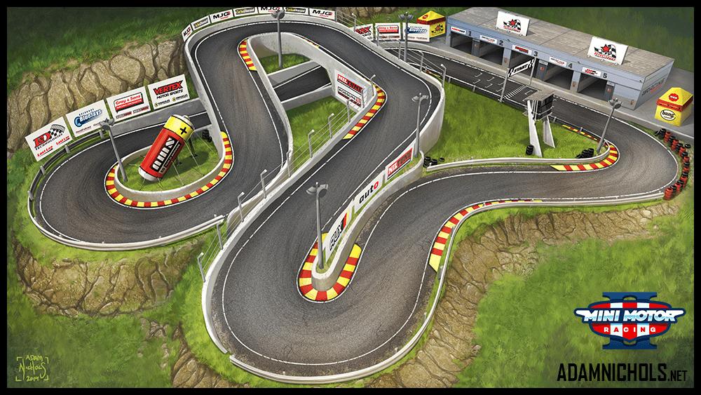 Mini Motor Racing 2 Track Concept Raceway