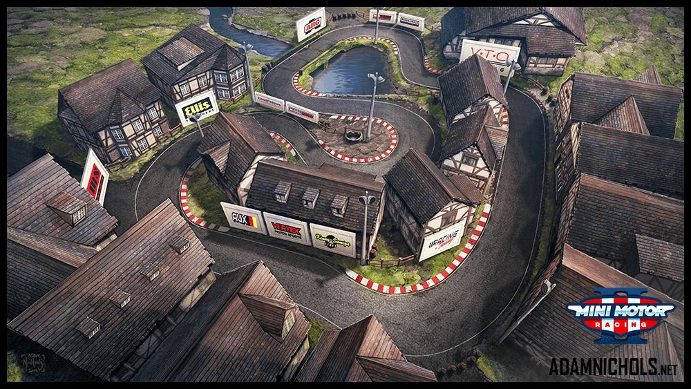 Mini Motor Racing 2 Track Concept Town Square
