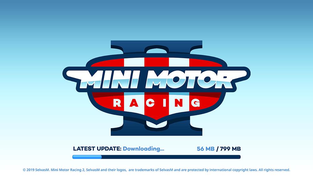 Mini Motor Racing 2 UI Design: Download DLC Screen Concept