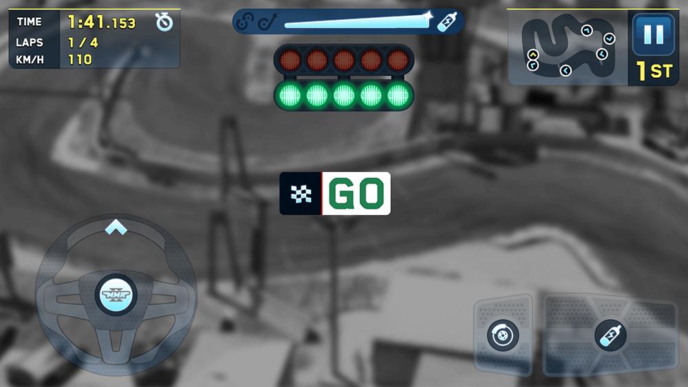 Mini Motor Racing 2 UI Design: Race HUD Screen Concept