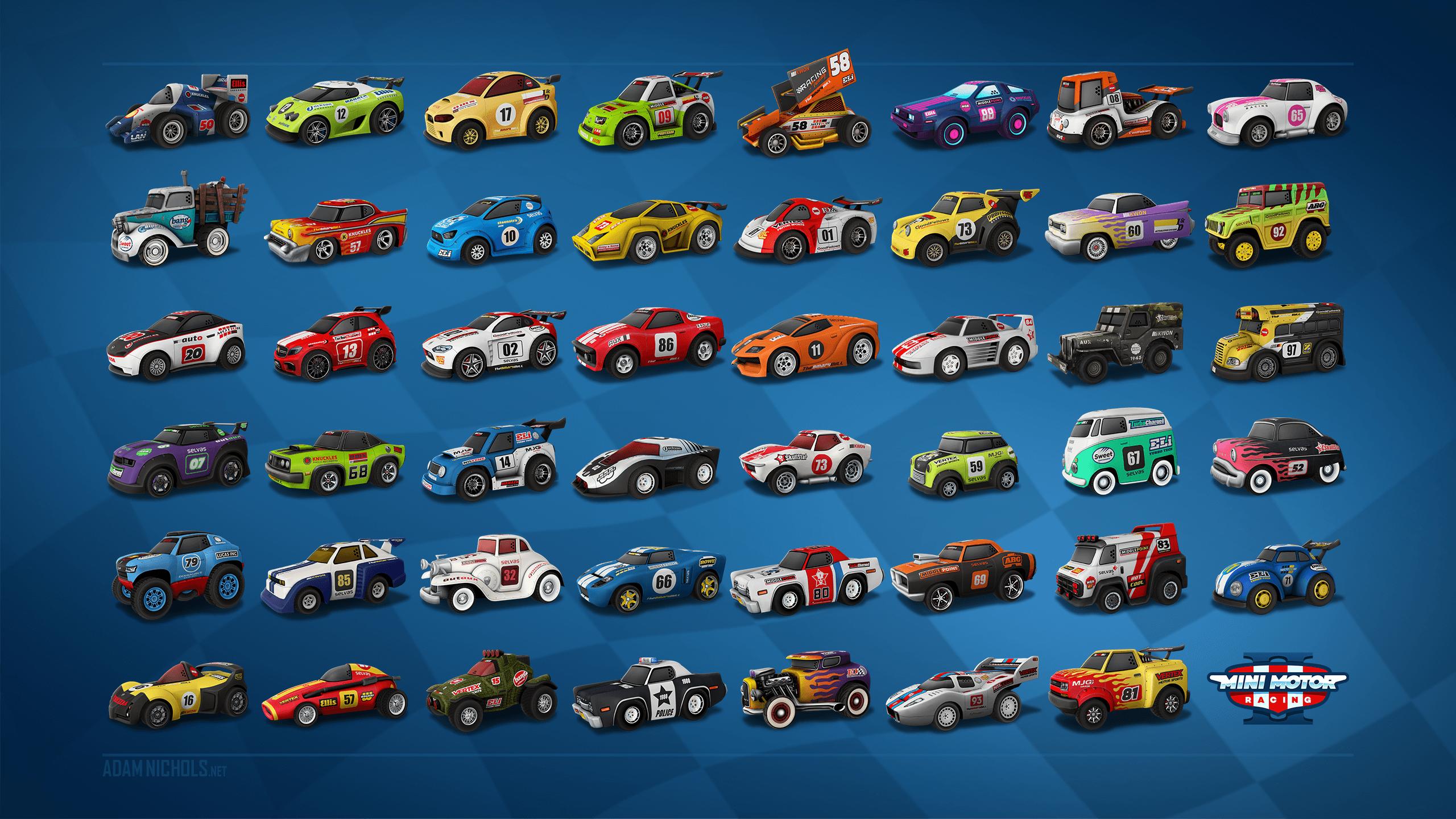 Mini Motor Racing 2 3D Vehicle Car Models