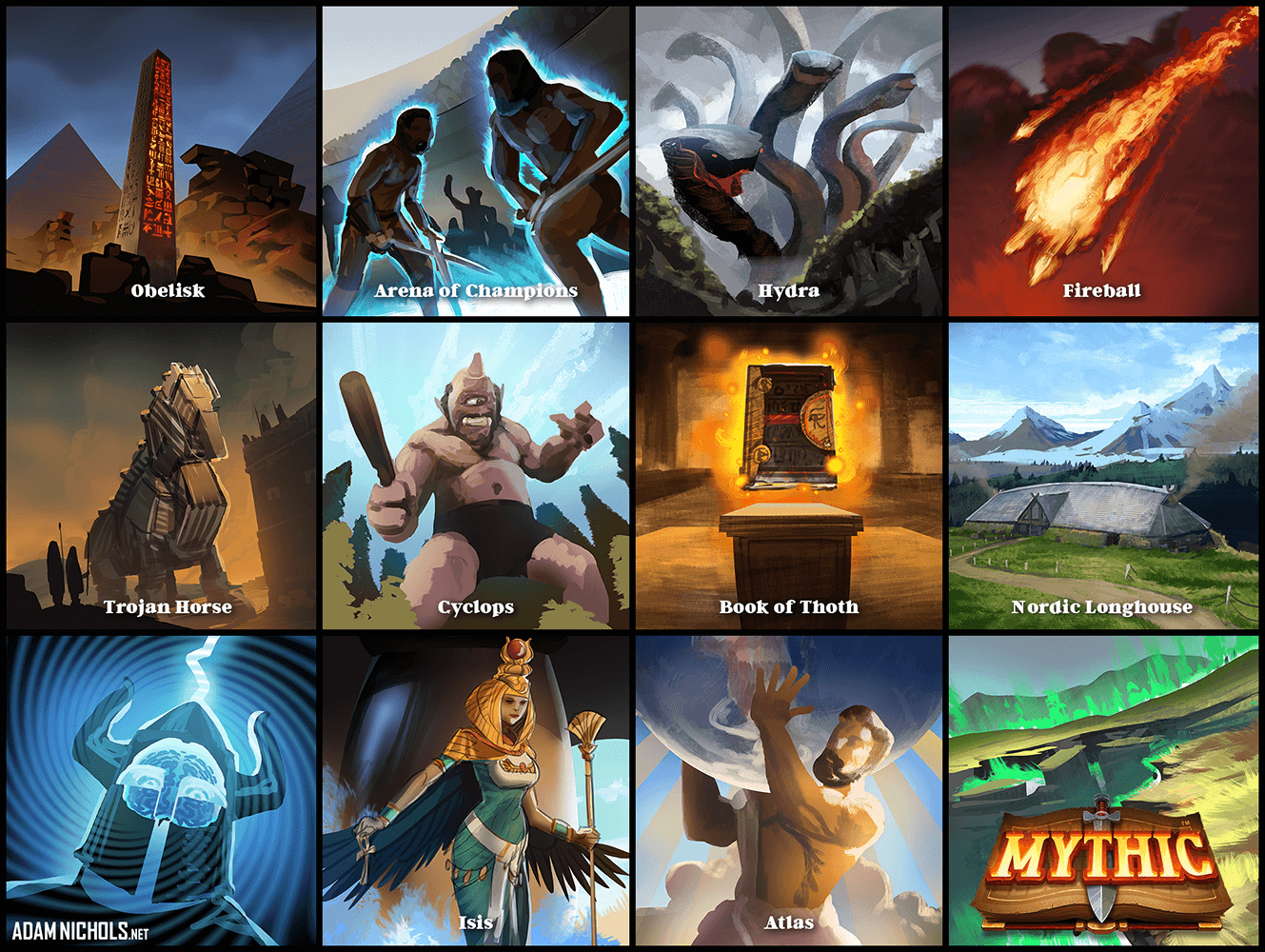 Mythic - Card Artwork Set 4 of 4