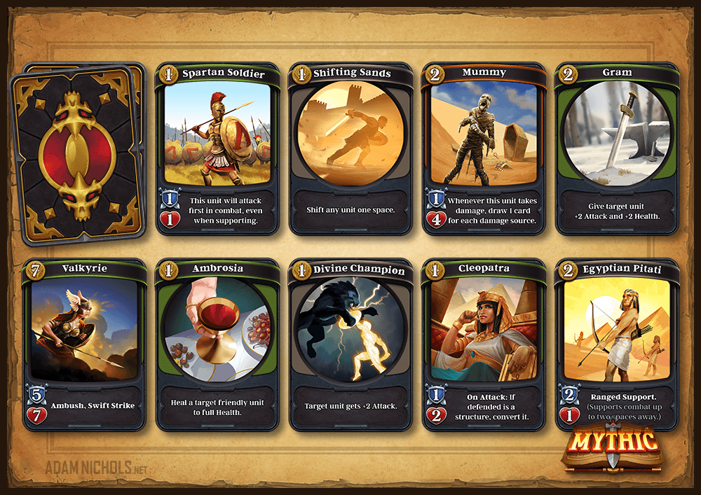 Mythic - Card Frame and Backing Designs