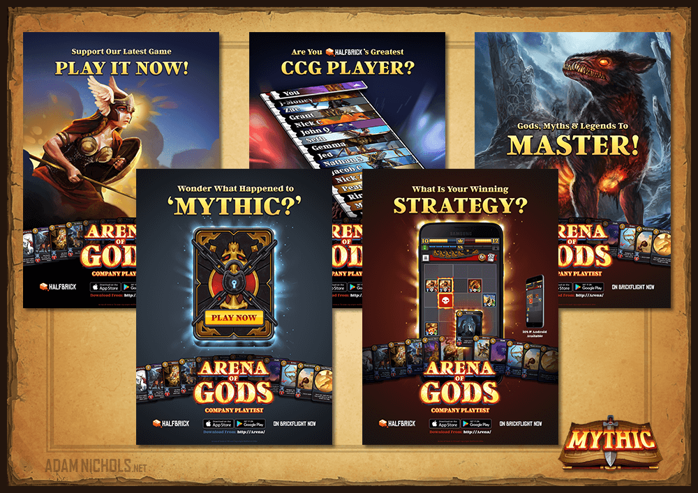 Mythic - Company Playtest Posters