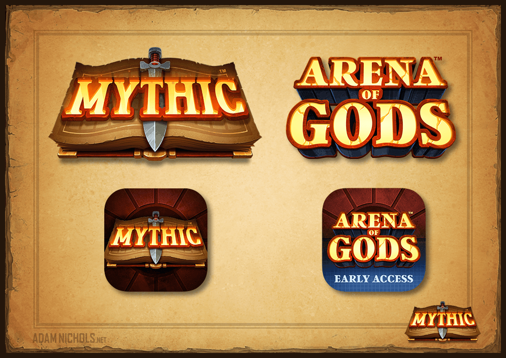 Mythic & Arena of Gods - Game Logos and Icons