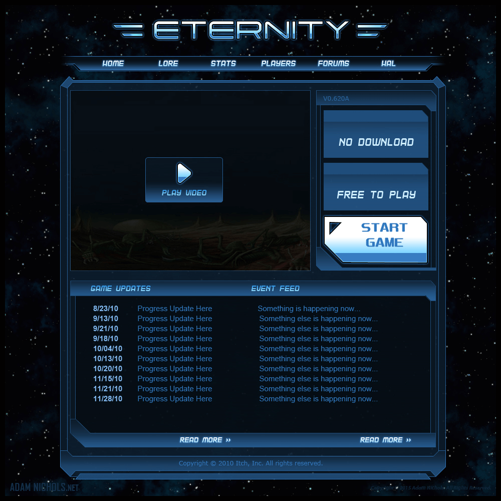Eternity HUD Icons and UI Design