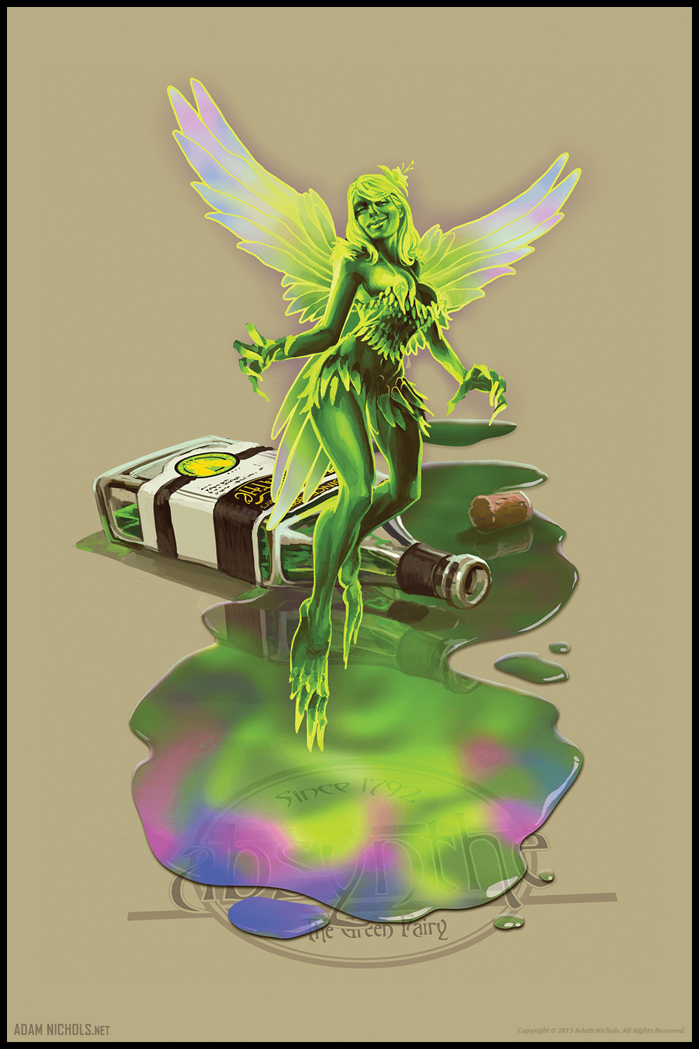 Absynthe The Green Fairy Artwork