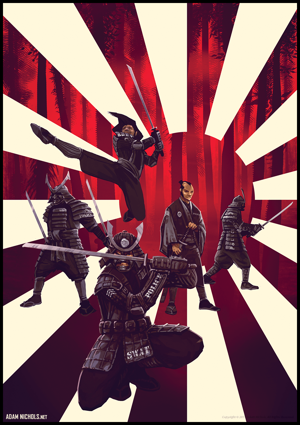 Samurai SWAT Police Artwork