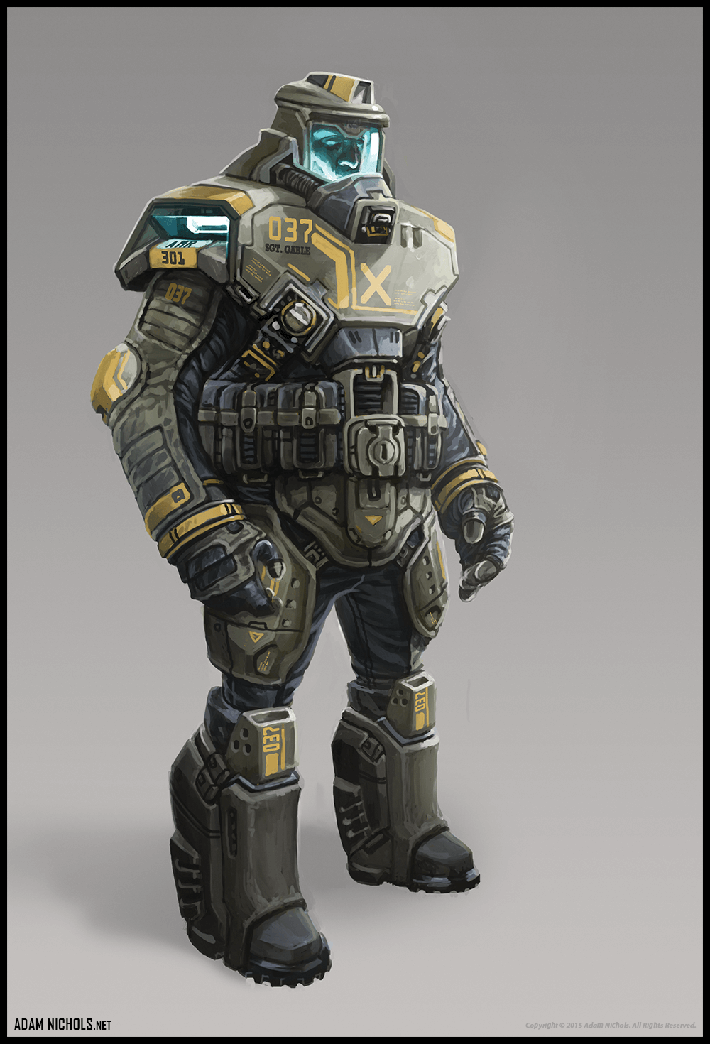 Stasis - Marine Concept Character Design