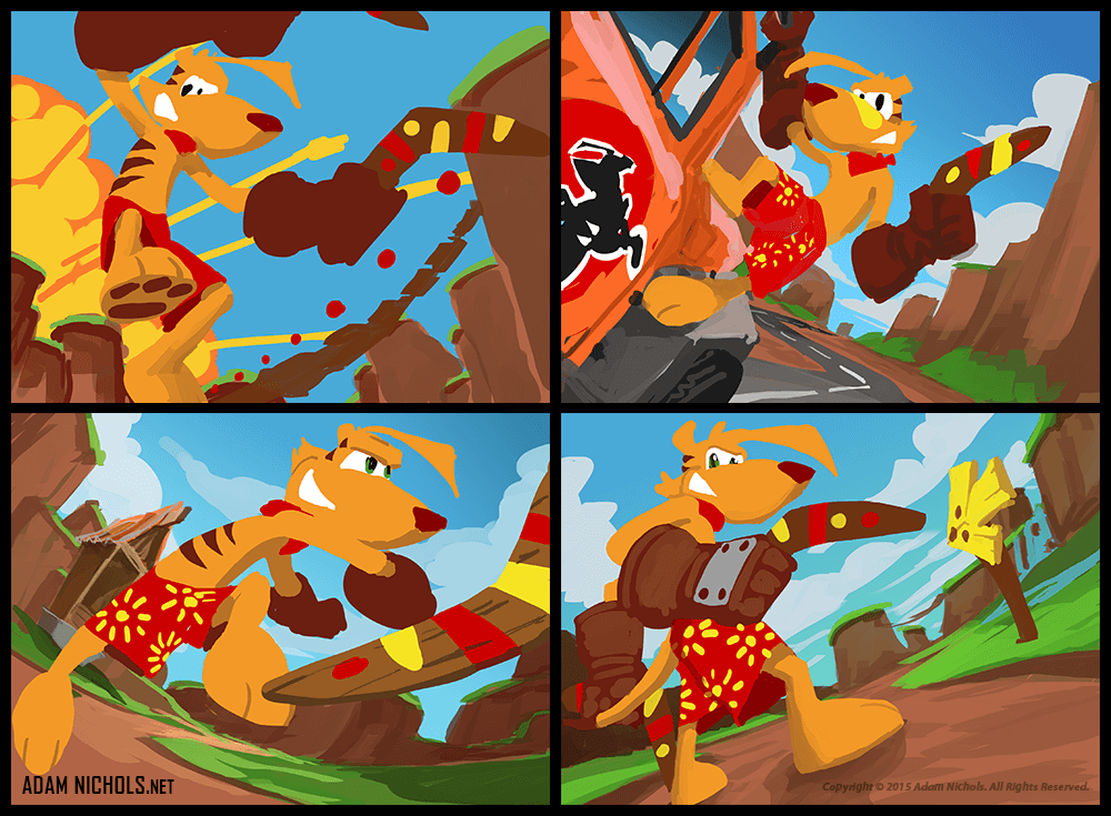 Ty The Tasmanian Tiger - The Great Southern Land Concept Art