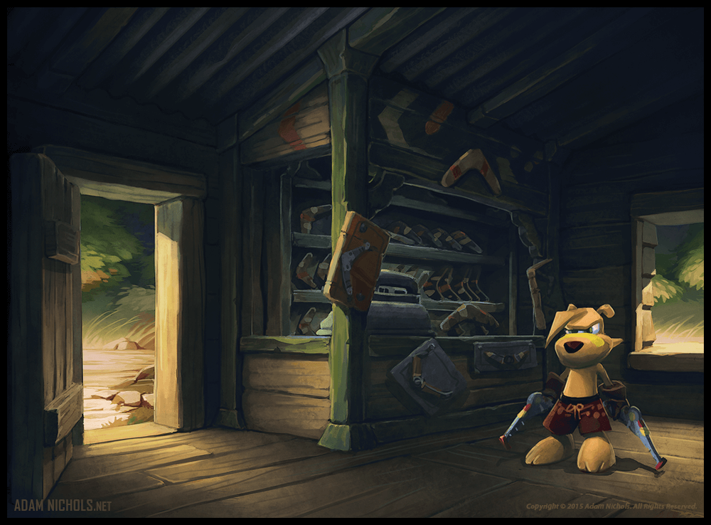 Ty The Tasmanian Tiger - Rang Shop Concept Art