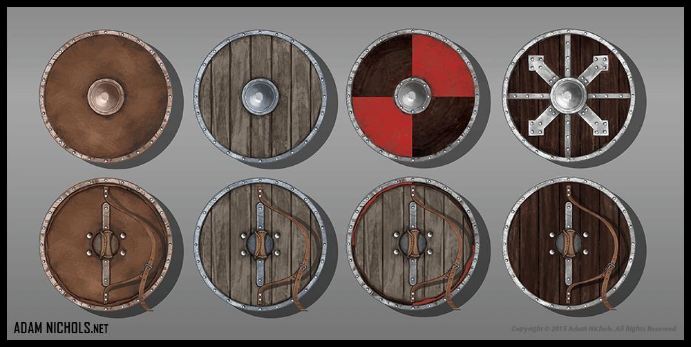 Valhalla: Halls of the Slain - Shields Concept Art
